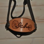 Custom design leather nose band on halter